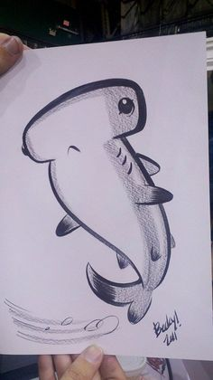 Ideas Drawing Sketches Easy Doodles Pencil For 2019 Cute Sketches, Drawing Sketches, Sketching, Shark Drawing, Cute Shark, Easy Drawings, Easy Animal Drawings, Doodle Art, Painting & Drawing