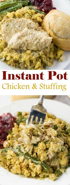 Instant Pot Chicken and Stuffing - The Cozy Cook