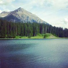 Kleiner Heidsee, Lenzerheide... #ILoveGraubünden Mount Rainier, Switzerland, Places To Go, River, Mountains, Board, Nature, Outdoor, Outdoors