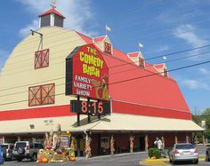 Comedy barn in pigeon forge. U will laf yer sides sore!