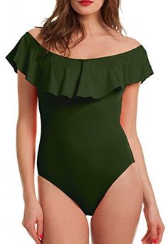 New Trending Bodysuits: Womens Bodysuits Summer Bodycon Slim Beach Wear One Piece Thong Top Army Green S. Womens Bodysuits Summer Bodycon Slim Beach Wear One Piece Thong Top Army Green S   Special Offer: $13.90      111 Reviews Our new arrival ruffles bodysuit is super sexy when you wear it on, and it is really soft and comfortable to wear.It can be a bodysuit or a swimsuitSize Reference:SMALL:...
