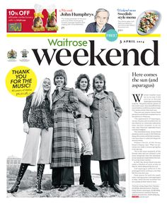 Waitrose Weekend cover 3 April 2014