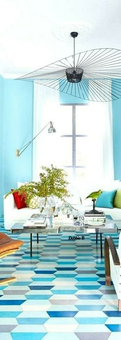 Blue Home Decor, Interior Exterior, Interior Decorating, Monday Blues, Table Decorations, Scene, Turquoise, Furniture, Interiors