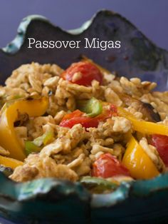 Passover Migas - a new take on Matzo Brei (breakfast treat)