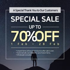 SPECIAL SALE 2018! UP TO 70% OFF