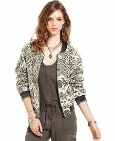 Free People Printed Bomber Jacket - Jackets & Blazers - Women - Macy's