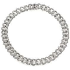 Adriana Orsini Pave Large-Link Chain Necklace ($495) ❤ liked on Polyvore featuring jewelry, necklaces, apparel & accessories, silver, oversized chain necklace, chains jewelry, adriana orsini, oversized jewelry and chain necklaces