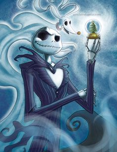 Jack Skellington by Synclaire Kaptur [©2015-2016 rice-claire]