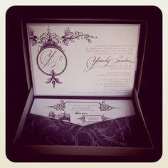 Custom Quincenera (Sweet 15) Invites #purple #box #nozza