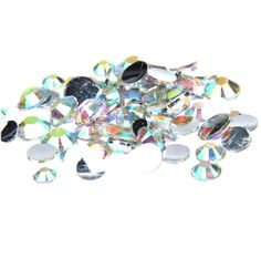 [Visit to Buy] 1000pcs 2-5mm And Mixed Sizes Crystal AB Resin Rhinestones Non Hotfix Glitter For Nails Art Backpack DIY Design Decorations #Advertisement