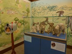 See Christopher Robin Milne's Pooh, Tigger, Piglet, Eeyore, and Kanga in a beautiful setting at the New York Public Library's Children's Center at 42nd Street.