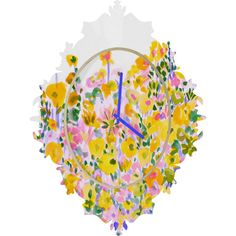 DENY Designs Home Accessories | Amy Sia Flower Fields Sunshine Baroque Clock