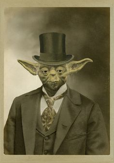 Star Wars characters were gentlemen, all of them. Which makes them particularly fitting for these Victorian style prints by artist Terry Fan. Terry Fan, Starwars, Victorian Era, Victorian Fashion, Dark Vader, Portraits Victoriens, Animal Portraits, Star Wars Personajes, Photoshop