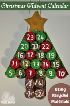 Advent Calendar made from recyclable materials ~ Homemade holidays