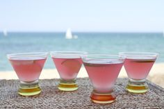 Recipe for Beach House Cosmos - Cosmopolitan cocktails. Photographs included.