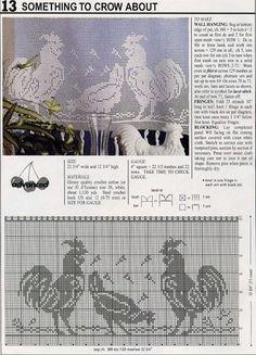 ru / Фото - Filet Crochet pour Point de Croix 2 - Mongia Plus Beau Crochet, Crochet Birds, Crochet Home, Thread Crochet, Knit Crochet, Filet Crochet Charts, Crochet Motifs, Crochet Doilies, Crochet Stitches