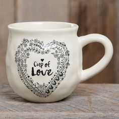 With a handcrafted feel and generous size, this mug will remind you of the best thing to be filled with... love! <3