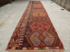 30x132 ft wide large woven extra long kilim rug hallway