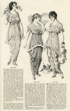 FREE PRINTABLE 1914 WOMEN'S SPRING FASHIONS! vintage fashion clip art, Edwardian clothing illustration, fashion for teens 1914, antique fashion printable graphics, black and white clipart, junk journal printable, Art, Mixed media, fashion, art journal