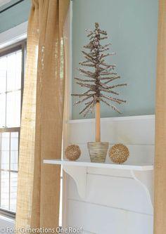 How to make a shelf {Christmas vignette}