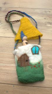 Felt gnome and bag - too cute