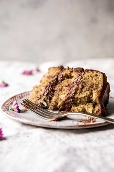 Coconut Banana Cake with Chocolate Frosting