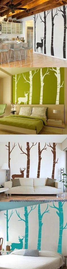 Home Decor: Vinyl Tree Wall Decal Nursery Cherry Blossom Flower Tree ...