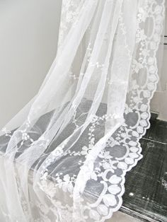 Lace curtain.