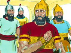 Free visuals: Naaman, the army general of the king of Aram, is advised by a young Jewish girl to go to the prophet Elisha for healing of his leprosy.  – II Kings 5:1-27