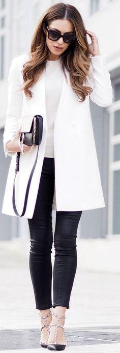 Tailored black + white.