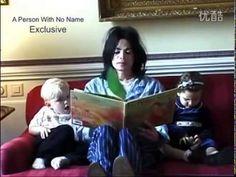 Michael Jackson reading a book to Paris & Prince #wonderful