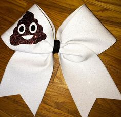 Poop Emoji Cheer Bow by Bowtique603 on Etsy