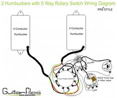 Custom hh wiring diagram with spst coil splitting and spst switching 2 humbuckers with 5 way rotary switch wiring diagram asfbconference2016 Image collections