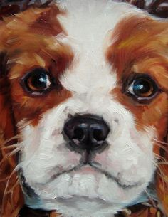 PIPPA! (Cavalier King Charles Spaniel) custom Pet Portrait Oil Painting by puci. puci@puciart.com