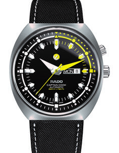 Rado Men's Swiss Automatic Tradtition Captain Cook MKIII Black Fabric Strap Watch Created for Macy's Jewelry & Watches - Watches - Macy's Cartier, Affordable Watches, Swiss Army Watches, Seiko Watches, Wrist Watches, Luxury Watches For Men, Beautiful Watches, Watch Sale, Sport Watches