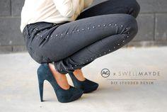 DIY | AG Jeans x SwellMayde Studded Denim