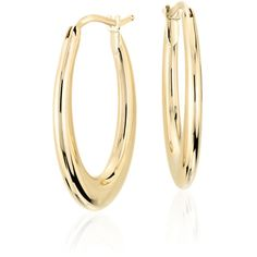Blue Nile Elongated Hoop Earrings (4 285 ZAR) ❤ liked on Polyvore featuring jewelry, earrings, accessories, blue nile jewelry, hoop earrings, 14k hoop earrings, 14k yellow gold earrings and 14 karat gold hoop earrings