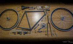 Vélo de course Gitane 90' devenu singlespeed gris souris