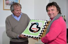 Jacques Laffite and René Arnoux celebrating the 40th anniversary of the Dijon circuit 26 May 2012