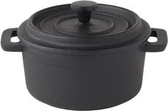 """Cast Iron Oven to Tableware - Round Casserole Dish / Pot 4"""" (10cm) (Box of 1) (Dish Only) - great sizzle to service cookware Titan Cast Iron Collection http://www.amazon.co.uk/dp/B004BABP86/ref=cm_sw_r_pi_dp_VS1-tb0GPQRHQ"""