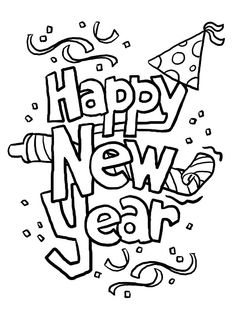 New Year Coloring Pages For #Toddlers :we have compiled a list of New Year coloring pages for your little ones. It includes all the important symbols associated with the New Year