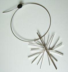 Vintage Betty Cooke Modernist Sterling Silver Very Large Starburst Necklace | eBay, via Zuburbia