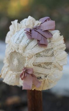 Beautiful little doll bonnet