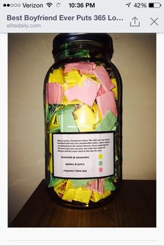 Perfect Boyfriend Puts Love Notes In A Jar For His Girlfriend - Boyfriend puts 365 love notes jar girlfriend read year