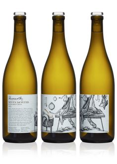 Ravensworth wine label design with illustrative detail by Cloudy Co.