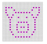 Ravelry: Pig Bobble Chart Pattern by Kari Philpott