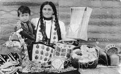 Ojibwa woman and child - circa 1900
