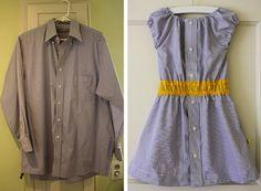 Cute dress from a man's shirt