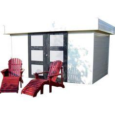 Profitez de ce bel abri de jardin SOLID MALMO de 12.07m² en panneaux de bois de 28mm d'épaisseur pour ranger et protéger tous vos équipements des intempéries.