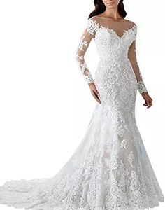 online shopping for Kevins Bridal Vintage 2017 Lace Mermaid Wedding Dress With Long Sleeves Bridal Gowns from top store. See new offer for Kevins Bridal Vintage 2017 Lace Mermaid Wedding Dress With Long Sleeves Bridal Gowns Lace Mermaid Wedding Dress, Lace Dress, Lace Wedding, Wedding Veil, Dress Long, Elegant Wedding, Summer Wedding, Wedding Dresses 2018, Bride Dresses